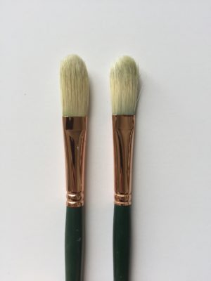 Long Filbert brushes
